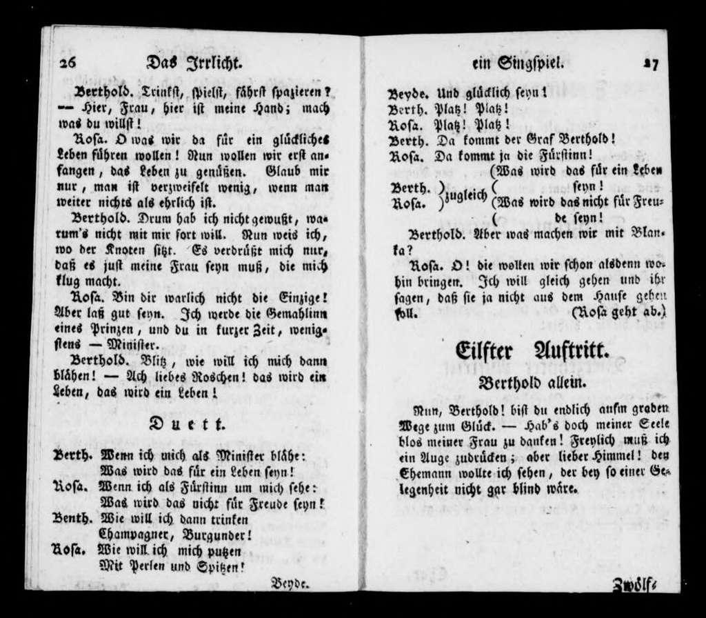 Irrlicht. Libretto. German