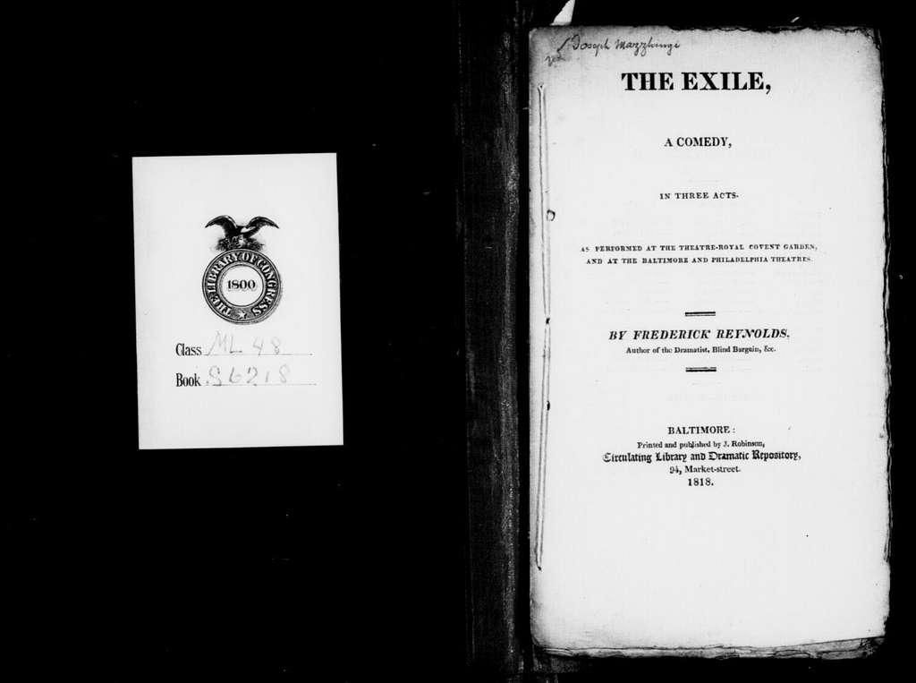 Exile. Libretto. Libretto. English