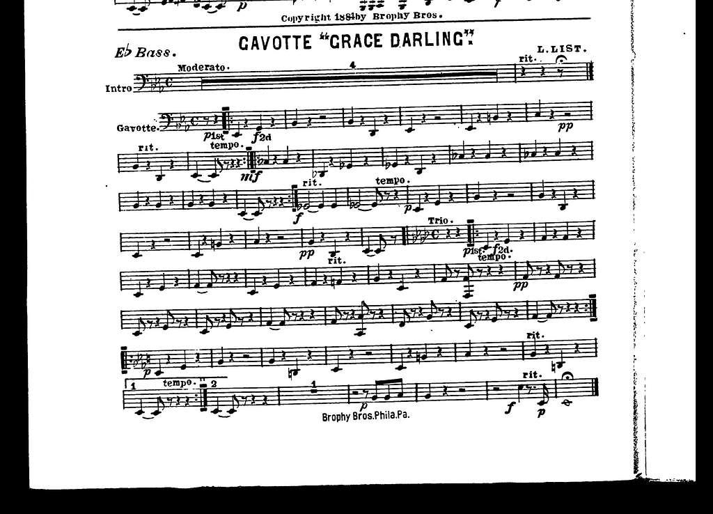 """Gavotte """"Grace darling"""""""