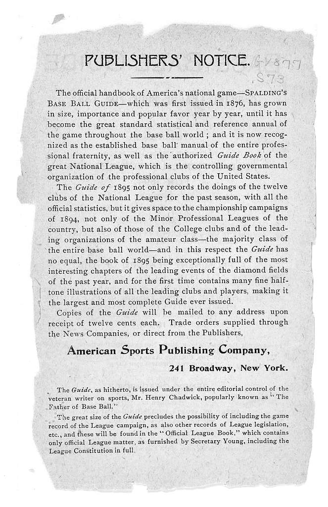 Spalding's official base ball guide, 1895