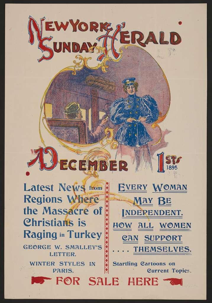 The New York Sunday Herald, December 1st 1895