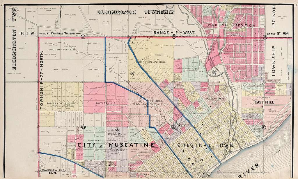 Atlas of Muscatine County, Iowa : containing maps of ...