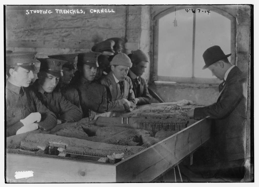 Studying trenches, Cornell