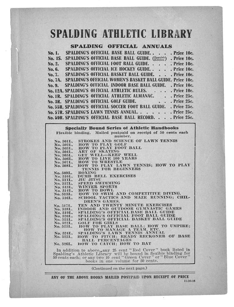 Official indoor base ball guide containing the constitution, 1917