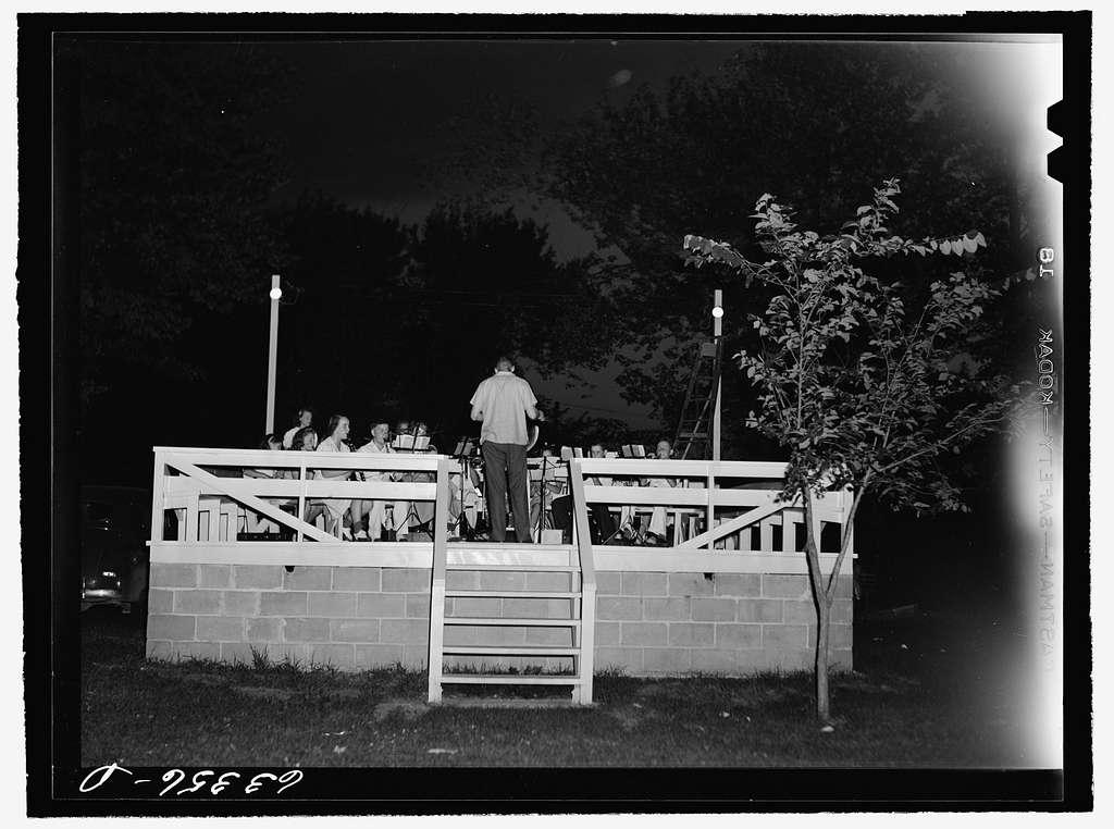 Band concert in park. Kellogg, Minnesota