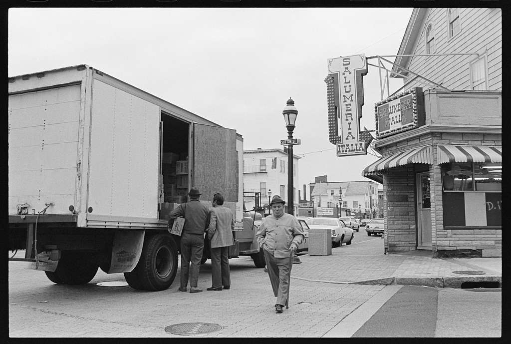 Italian district, weekday morning activity (8:00 AM), Federal Hill, Providence, Rhode Island