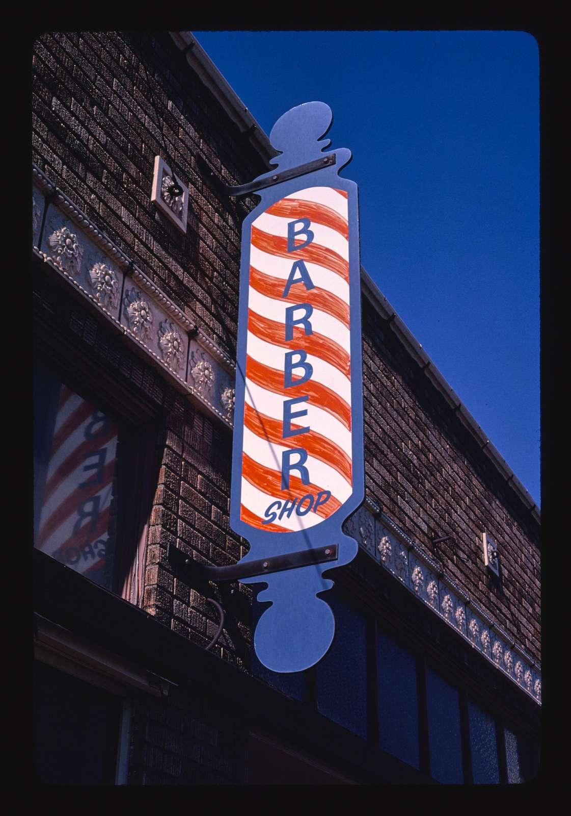 Barber sign, Commercial Avenue, Anacortes, Washington