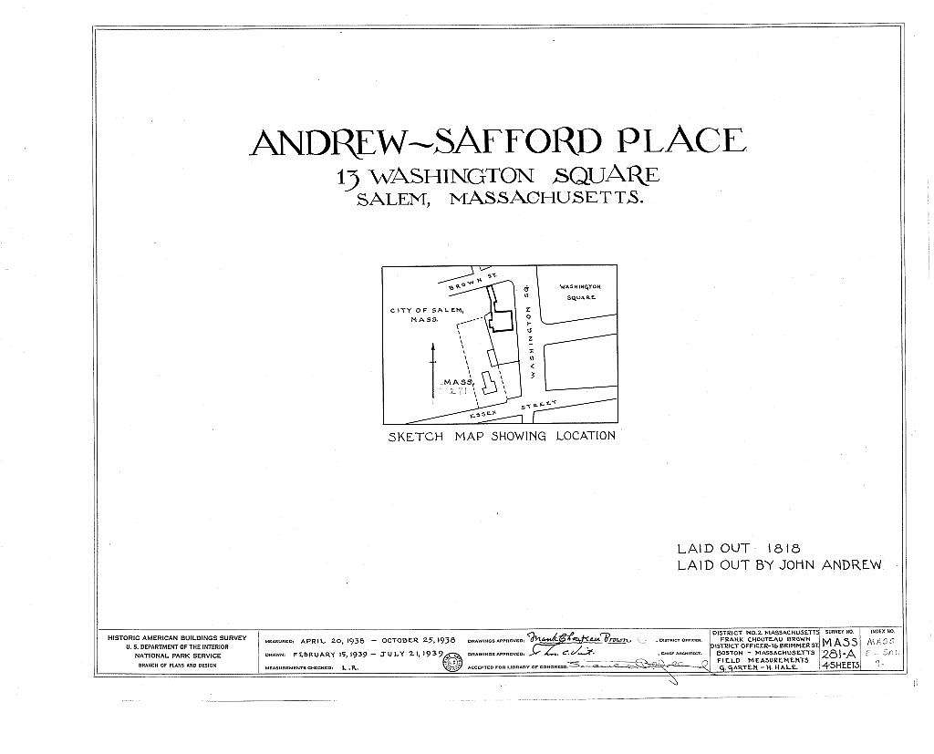 Andrew-Safford Place, 13 Washington Square, Salem, Essex County, MA