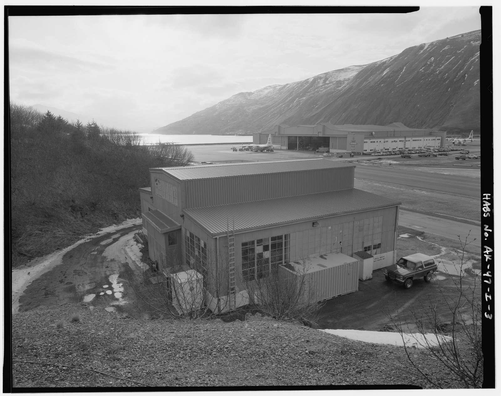 Kodiak Naval Operating Base, Boat House, U.S. Coast Guard Station, across the taxiway from Building No. 25 on Nyman Peninsula, Kodiak, Kodiak Island Borough, AK