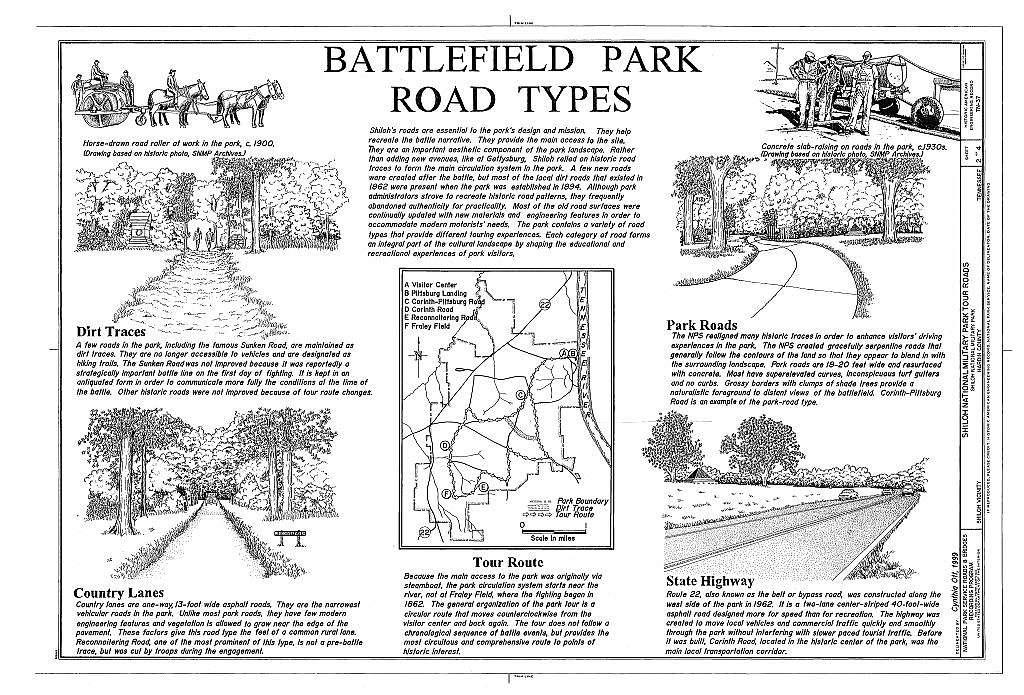 Shiloh National Military Park Tour Roads, Shiloh, Hardin County, TN