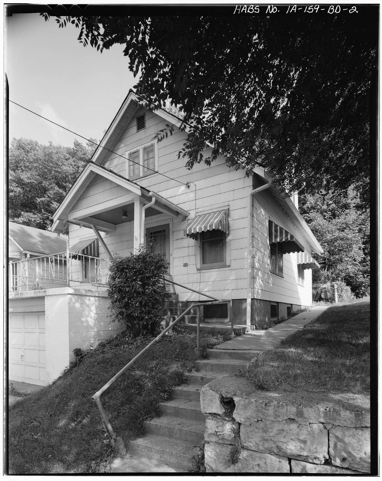 Workingmen's Houses, William P. Hipman House II, 816 Dodge Street, Dubuque, Dubuque County, IA