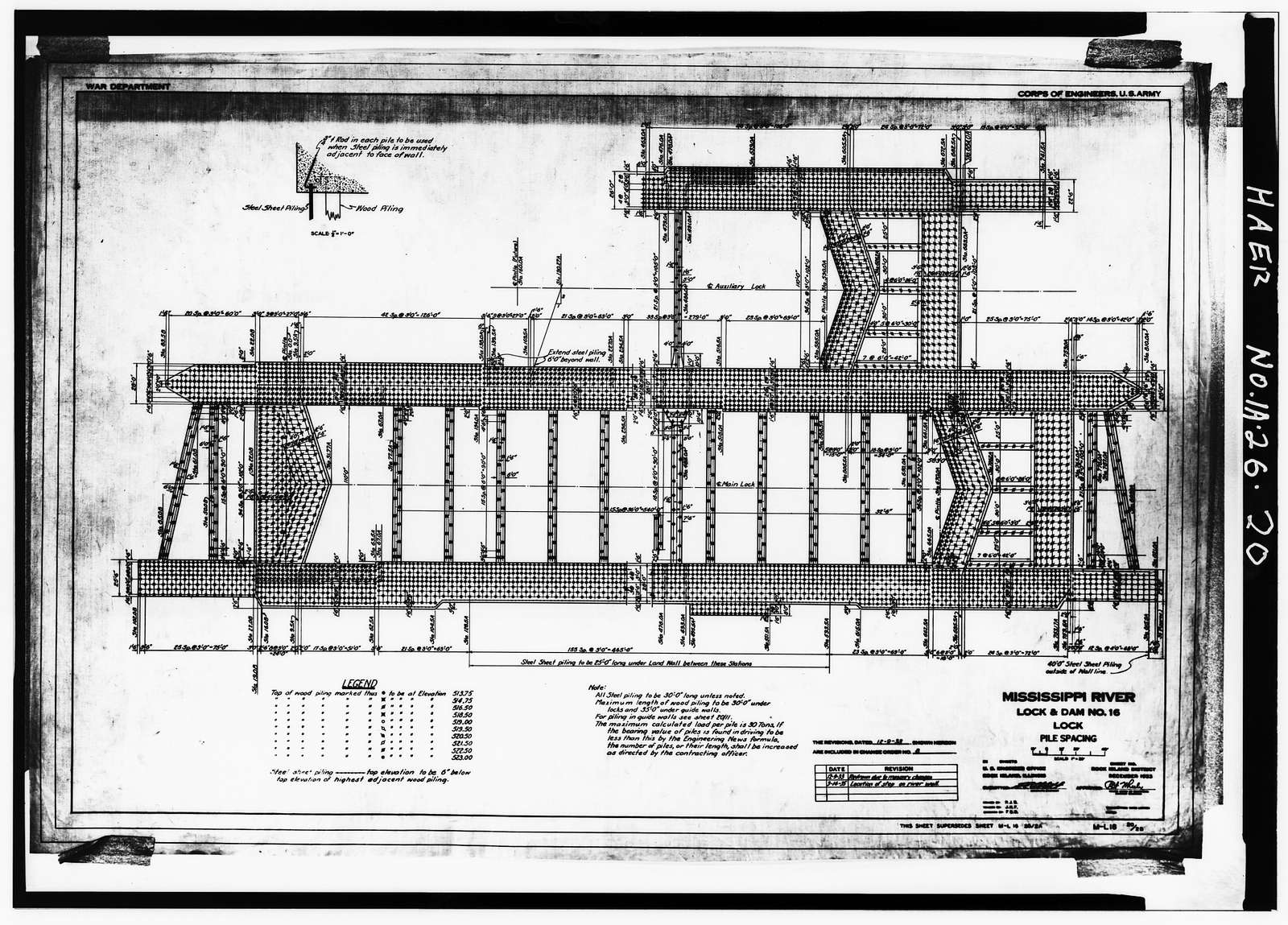 Mississippi River 9-Foot Channel Project, Lock & Dam No. 16, Upper Mississippi River, Muscatine, Muscatine County, IA