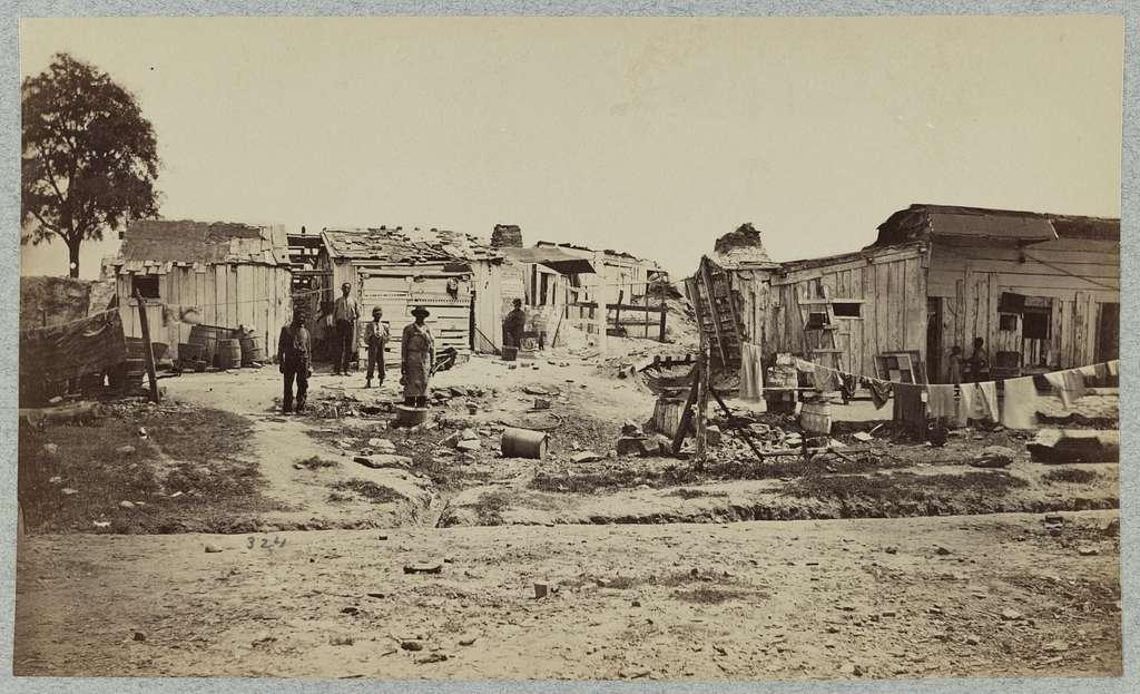 Camp of the Negro Labor crew of the Q.M. Dept, Belle Plain, Va.
