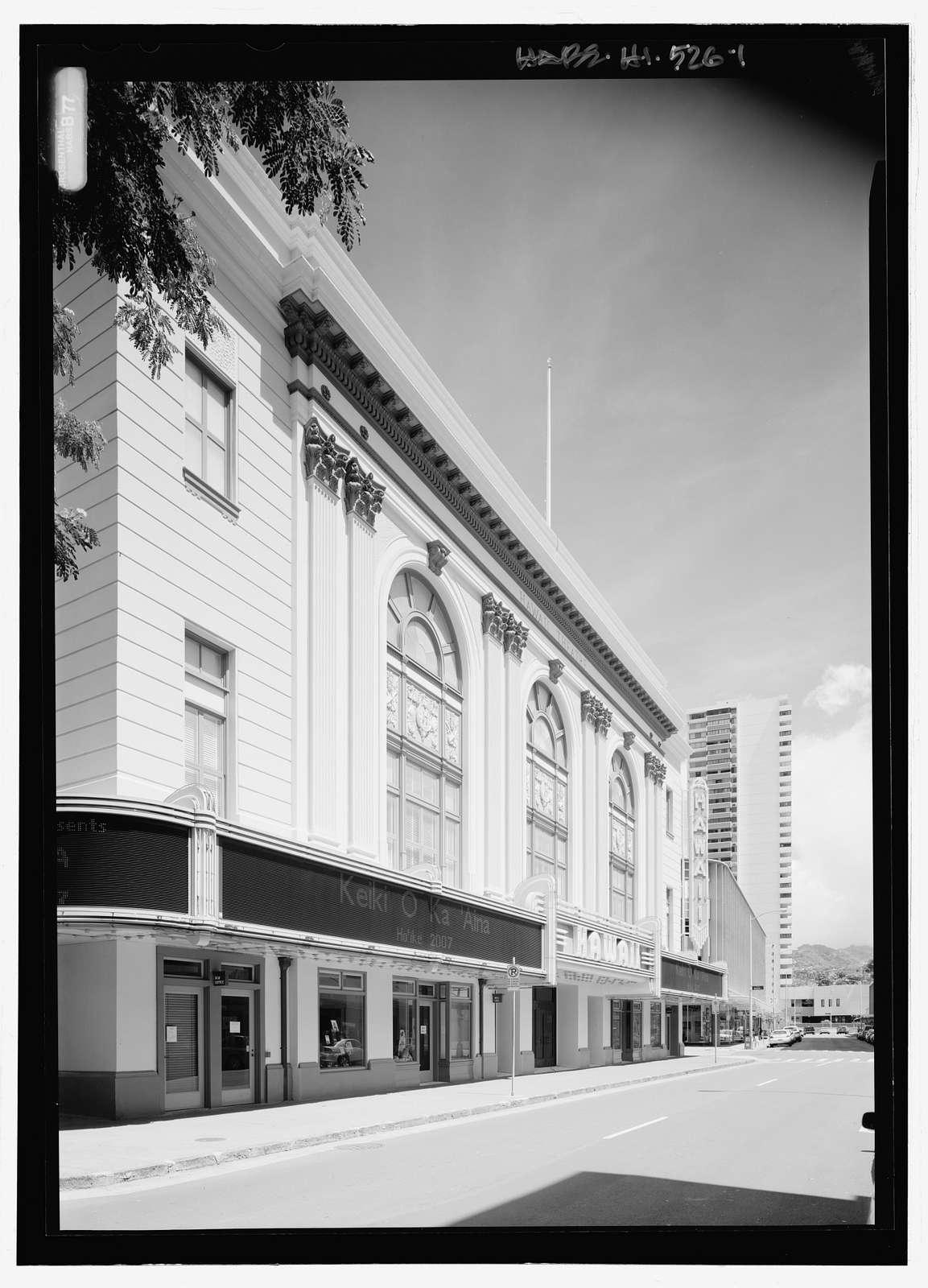 Hawaii Theatre, 1130 Bethel Street, Honolulu, Honolulu County, HI
