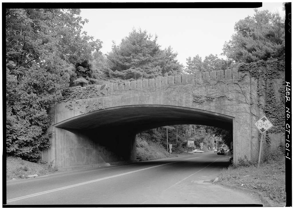 Merritt Parkway, Weston Road/Route 57 Bridge, Spanning Weston Road/Route 57, Westport, Fairfield County, CT