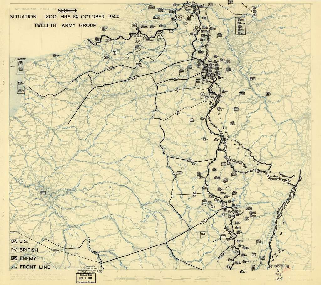[October 24, 1944], HQ Twelfth Army Group situation map.