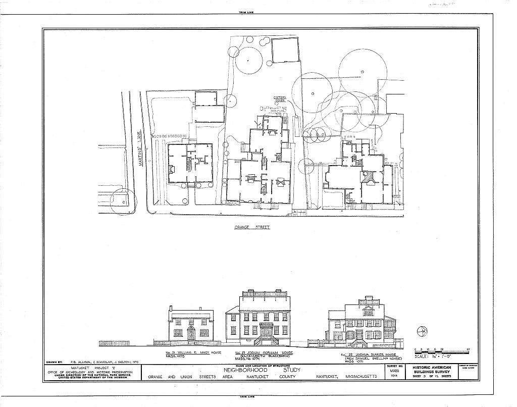 Orange & Union Streets Neighborhood Study, 8-31 Orange Street, 9-21 Union Street & Stone Alley, Nantucket, Nantucket County, MA