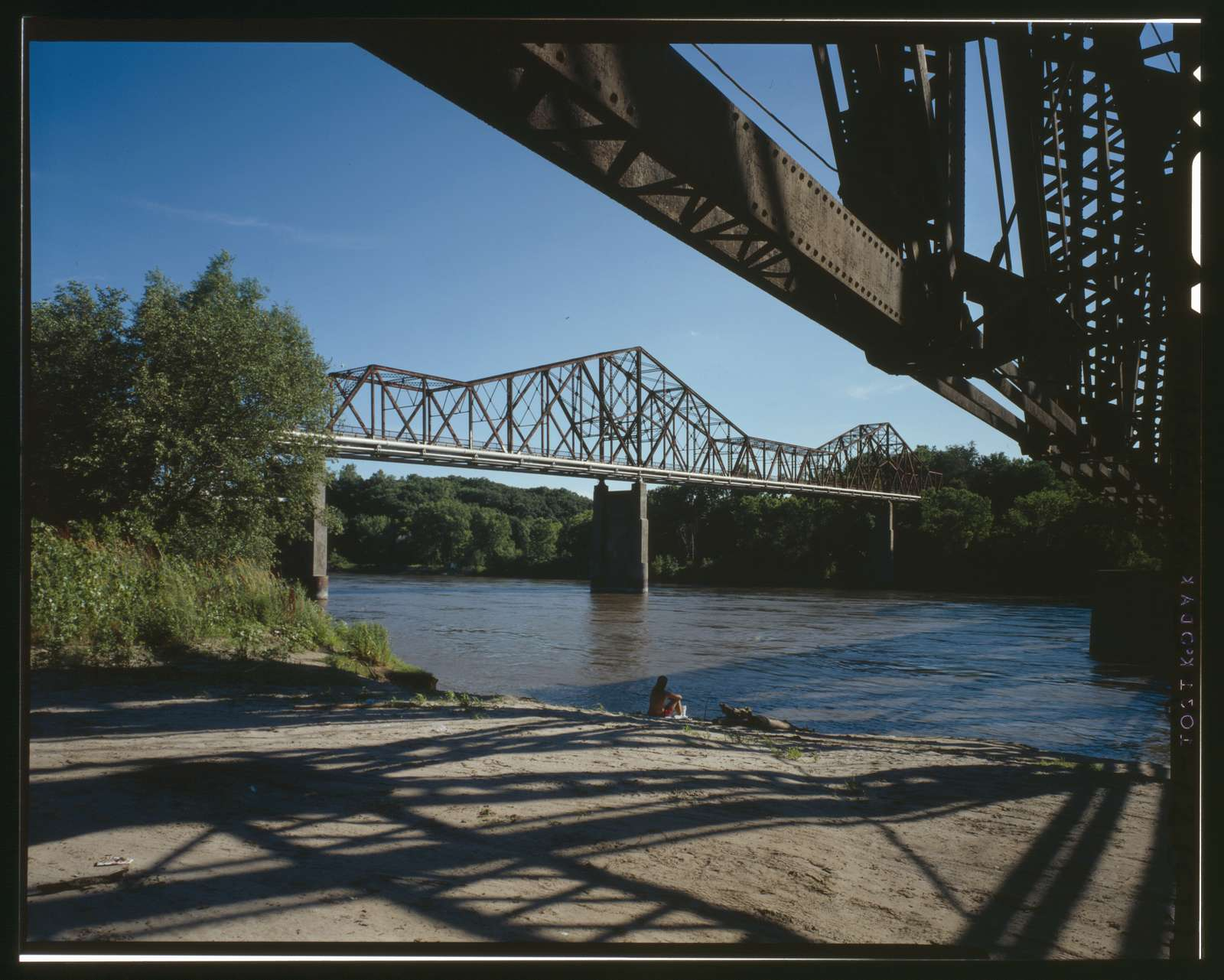 Plattsmouth Bridge, Spanning Missouri River at U.S. Highway 34, Pacific Junction, Mills County, IA