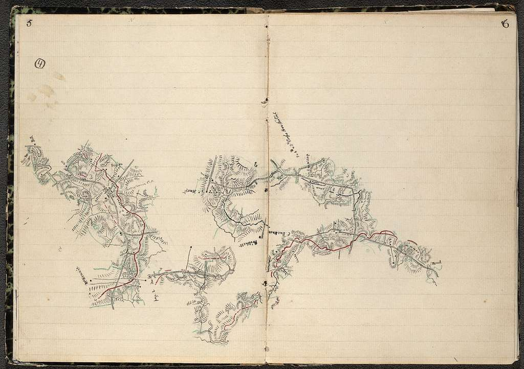 Sketch book showing positions of Second Corps, A.N.Va. in engagements of 1864-5 : [Virginia] /
