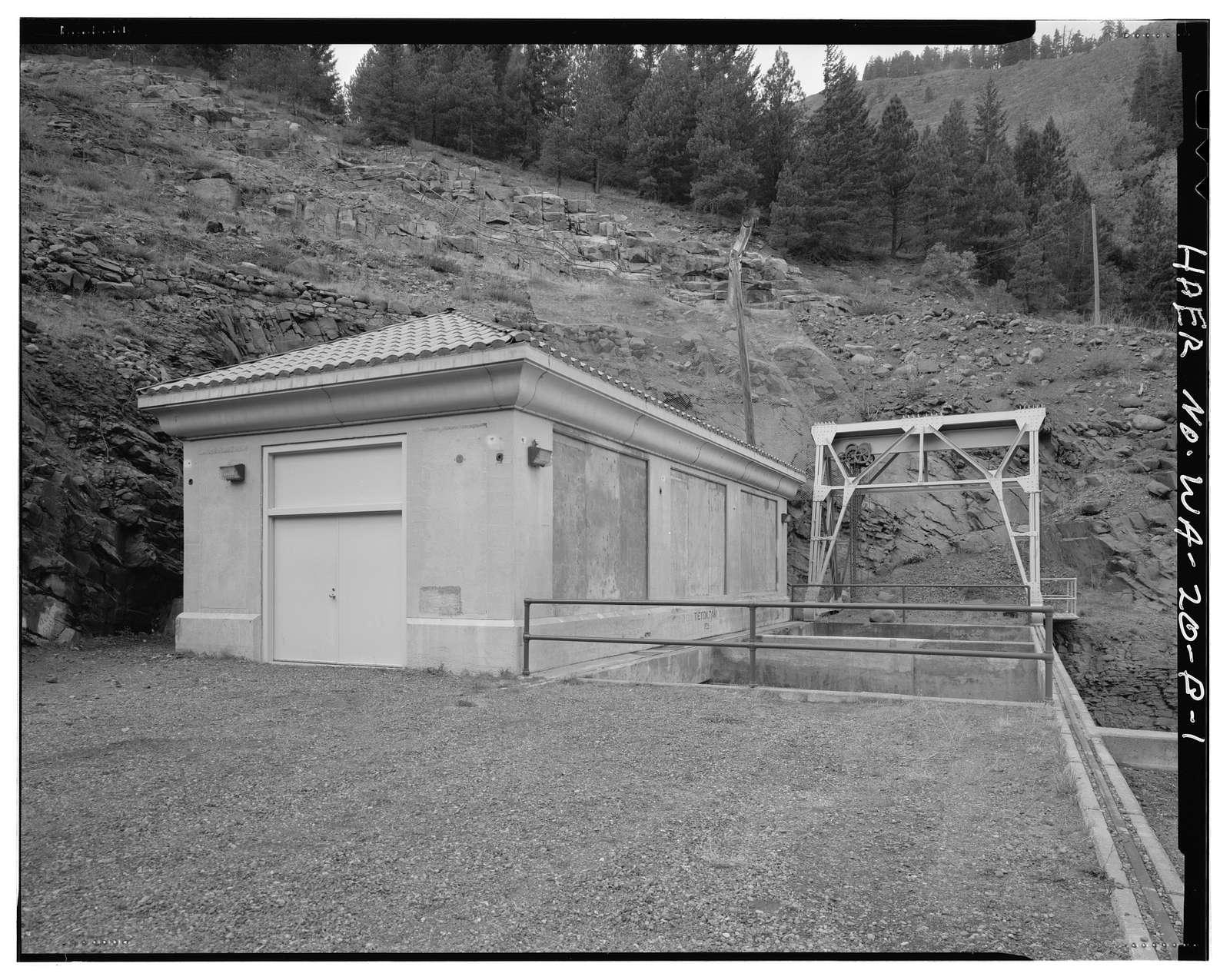 Tieton Dam, Valve House, South & East side of State Highway 12, Naches, Yakima County, WA