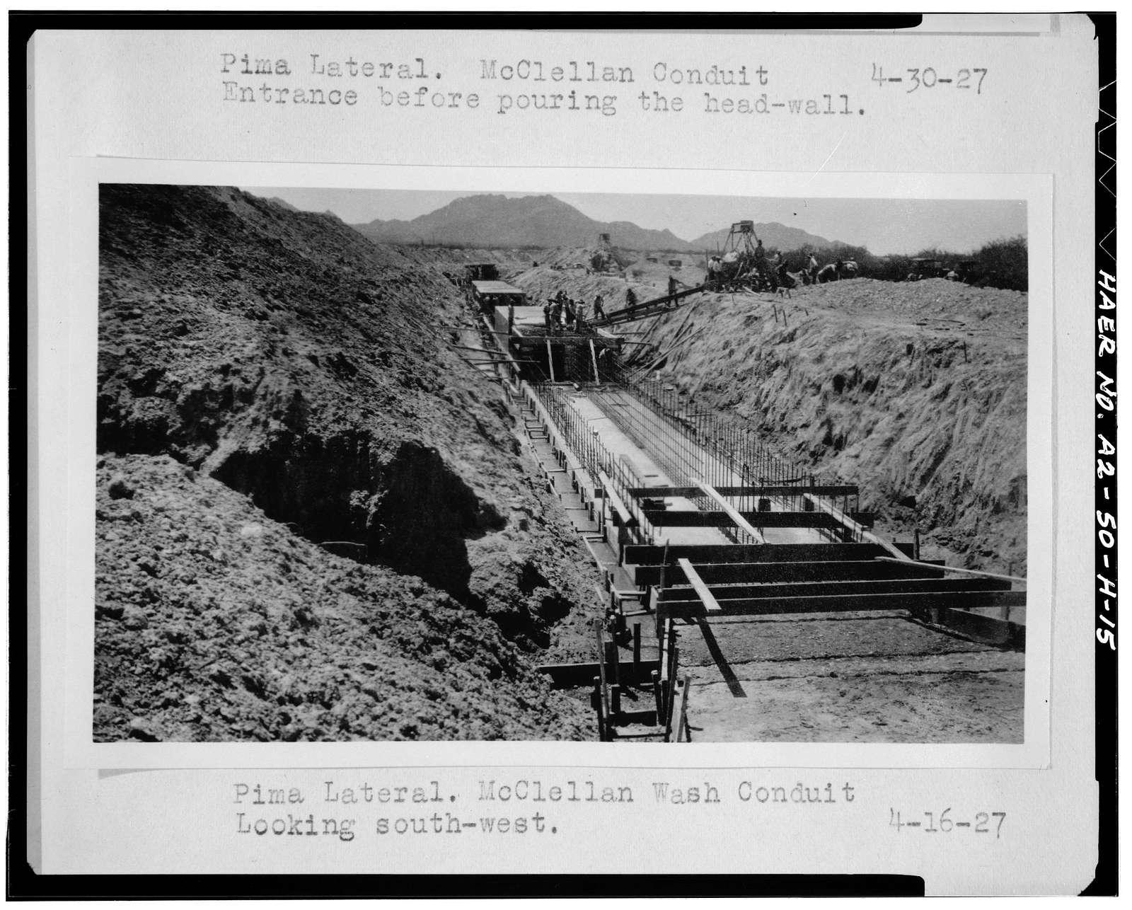 San Carlos Irrigation Project, Pima Lateral, Main Canal at Sacaton Dam, Coolidge, Pinal County, AZ