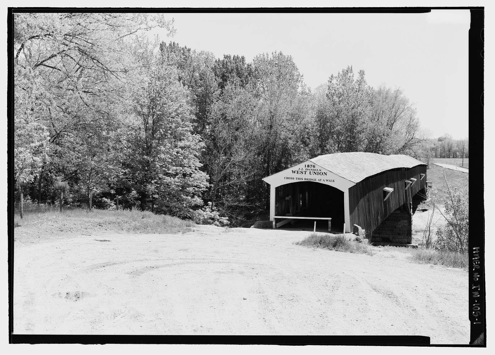 West Union Bridge, Spanning Sugar Creek, CR 525W, West Union, Parke County, IN