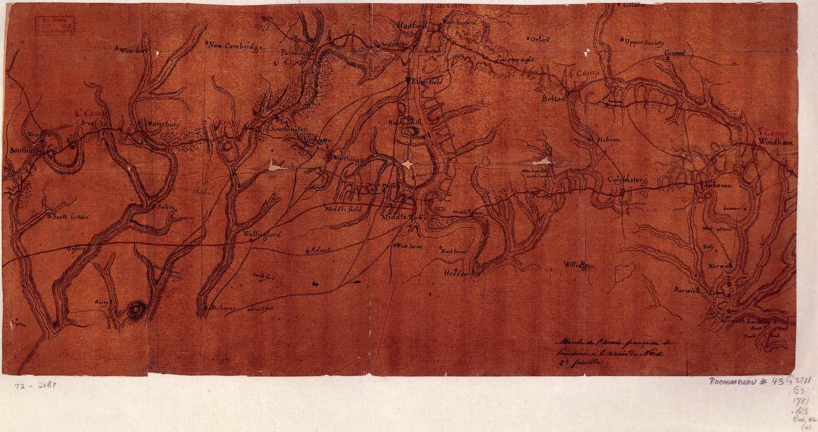 Marche de l'armée française de Providence à la Rivière du Nord.