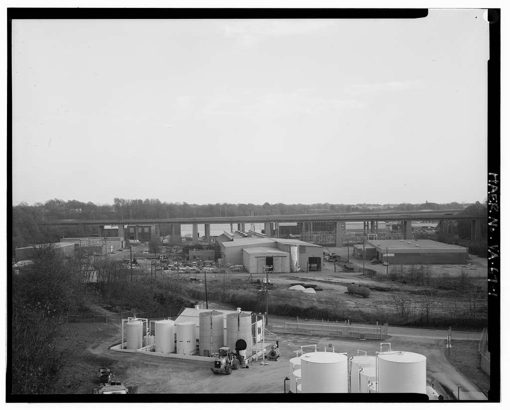 Fifth Street Viaduct, Spanning Bacon's Quarter Branch Valley on Fifth Street, Richmond, Independent City, VA