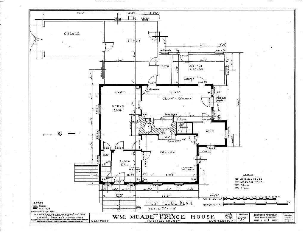 William Meade Prince House, Saint John Place, Westport, Fairfield County, CT