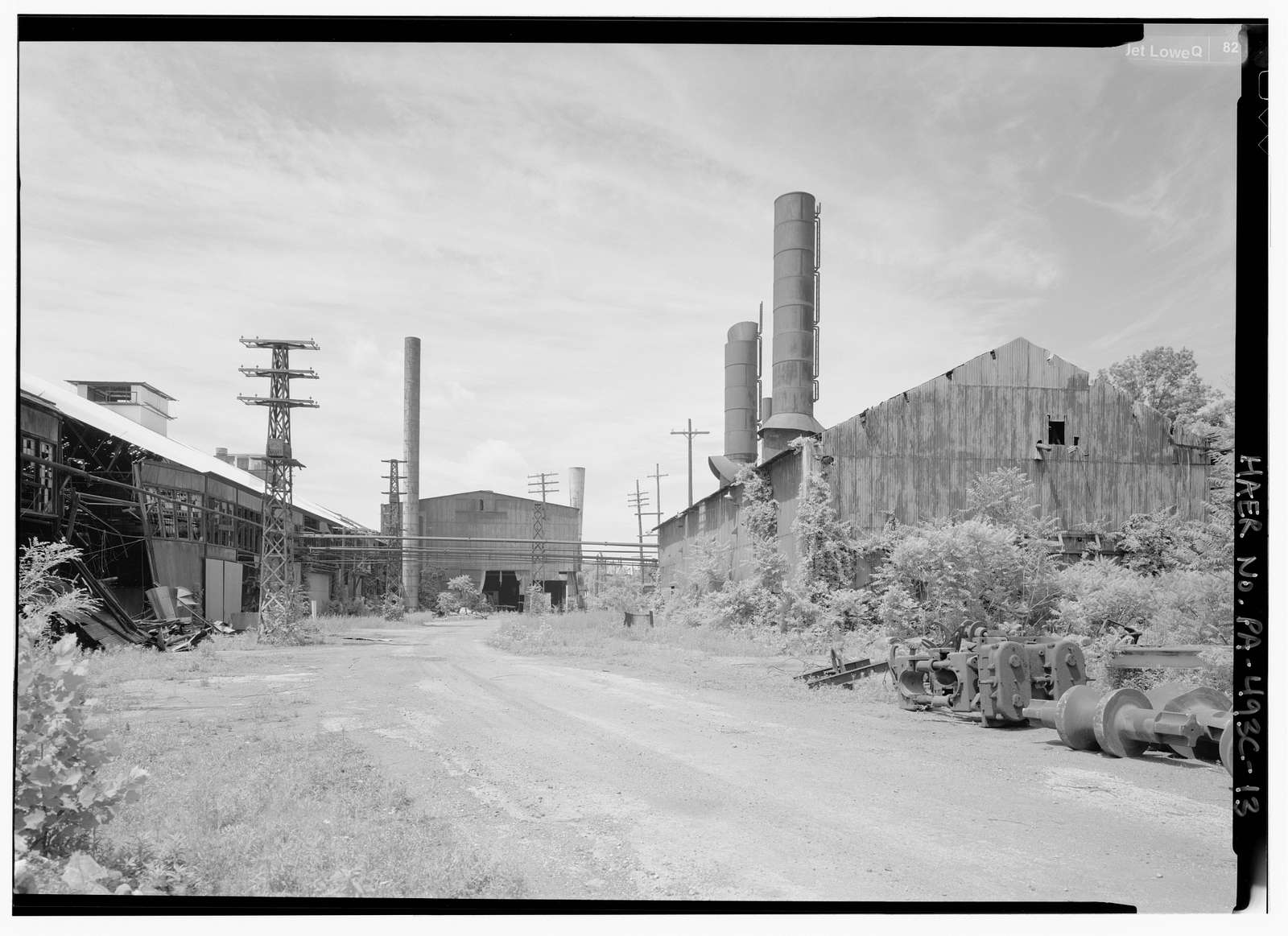Phoenix Iron Company, Rolling Mill, North of French Creek, west of Fairview Avenue, Phoenixville, Chester County, PA