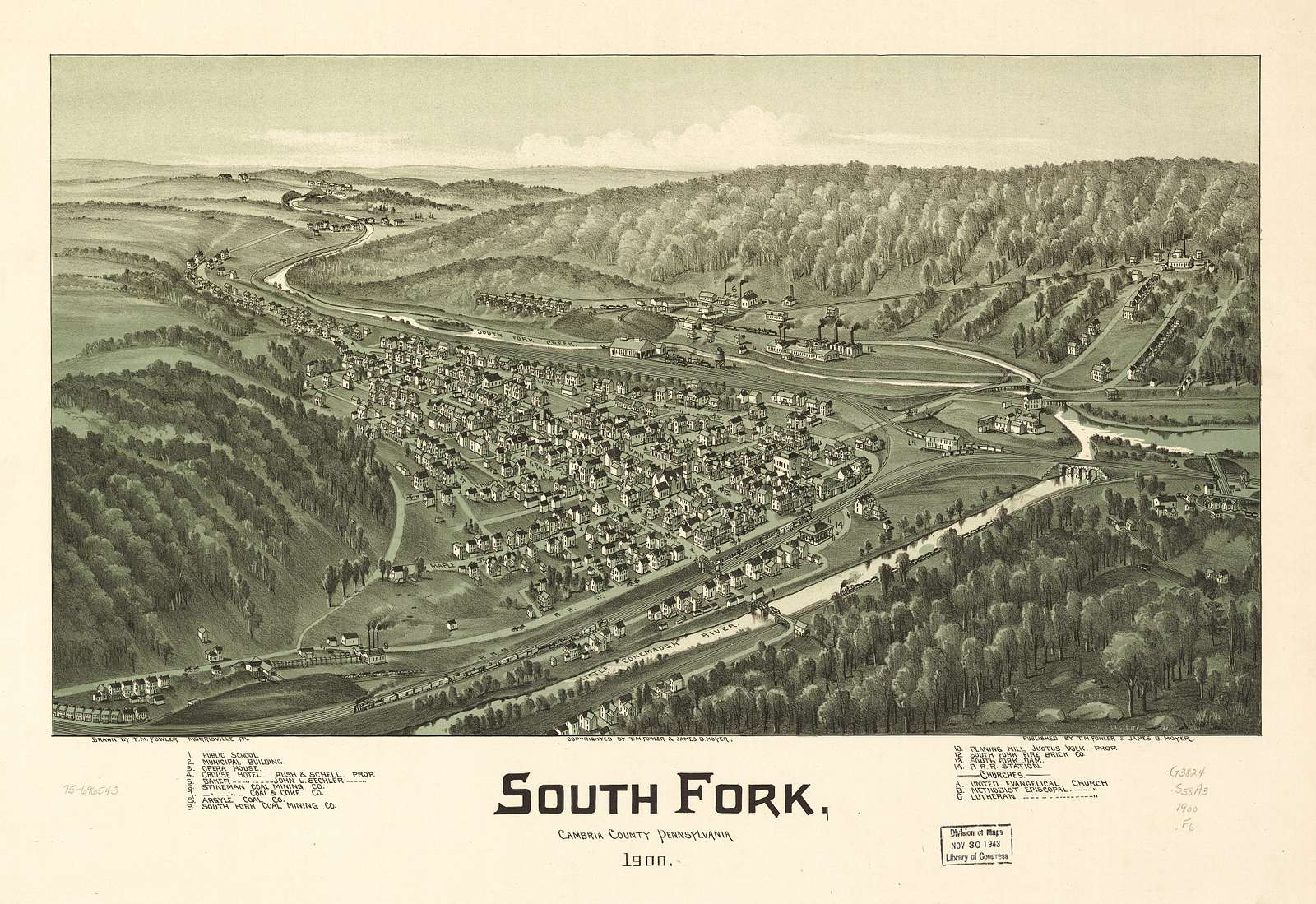 South Fork, Cambria County, Pennsylvania 1900.