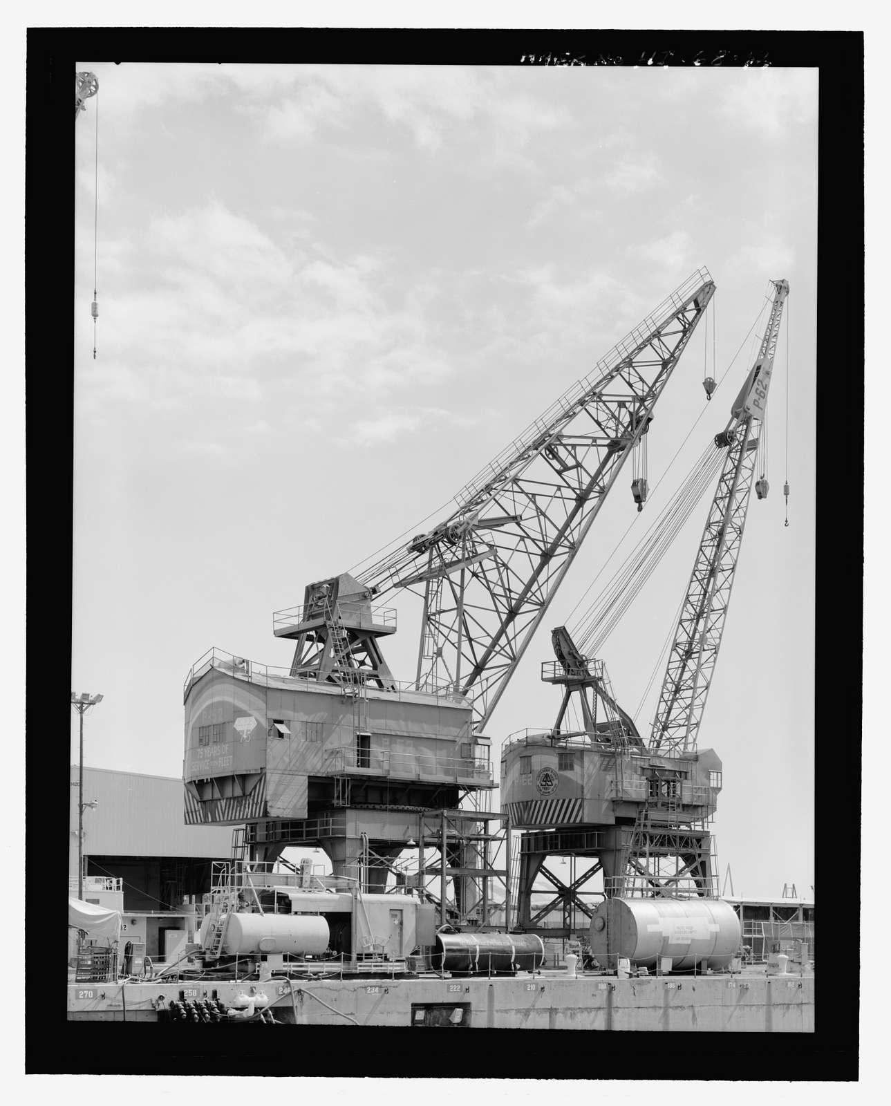 U.S. Naval Base, Pearl Harbor, Exterior Cranes, Waterfront Crane Track System, Pearl City, Honolulu County, HI