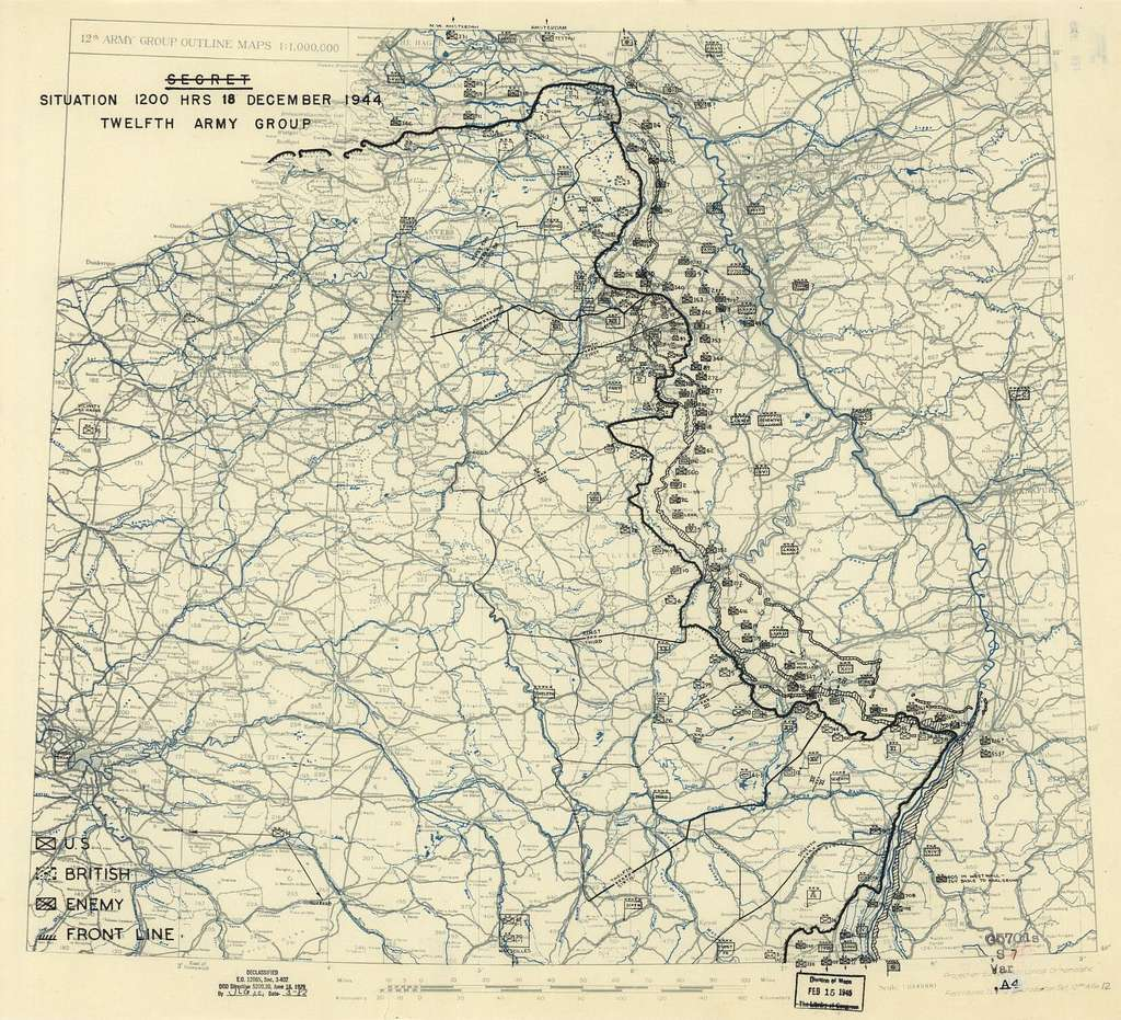 [December 18, 1944], HQ Twelfth Army Group situation map.