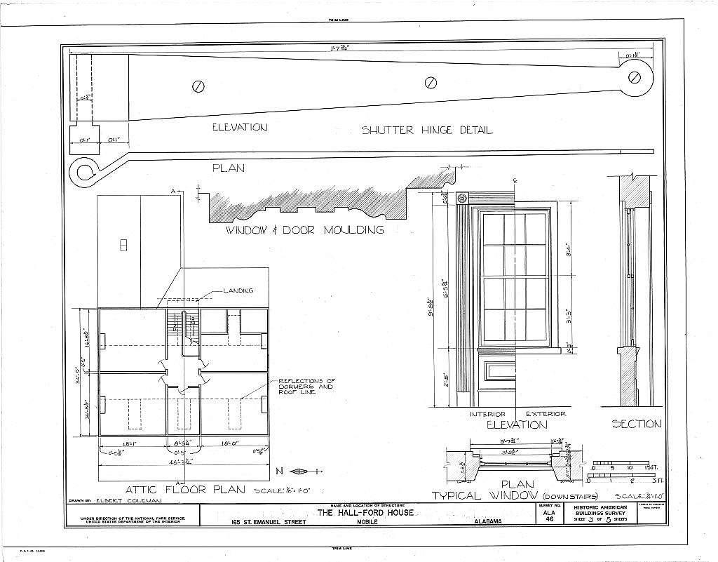 Hall House, 165 Saint Emanuel Street, Mobile, Mobile County, AL