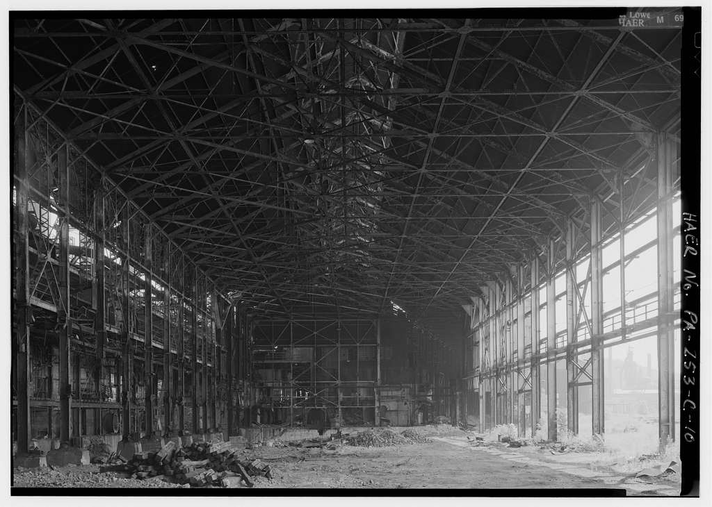 Pittsburgh Steel Company, Monessen Works, Open Hearth Plant, Donner Avenue, Monessen, Westmoreland County, PA