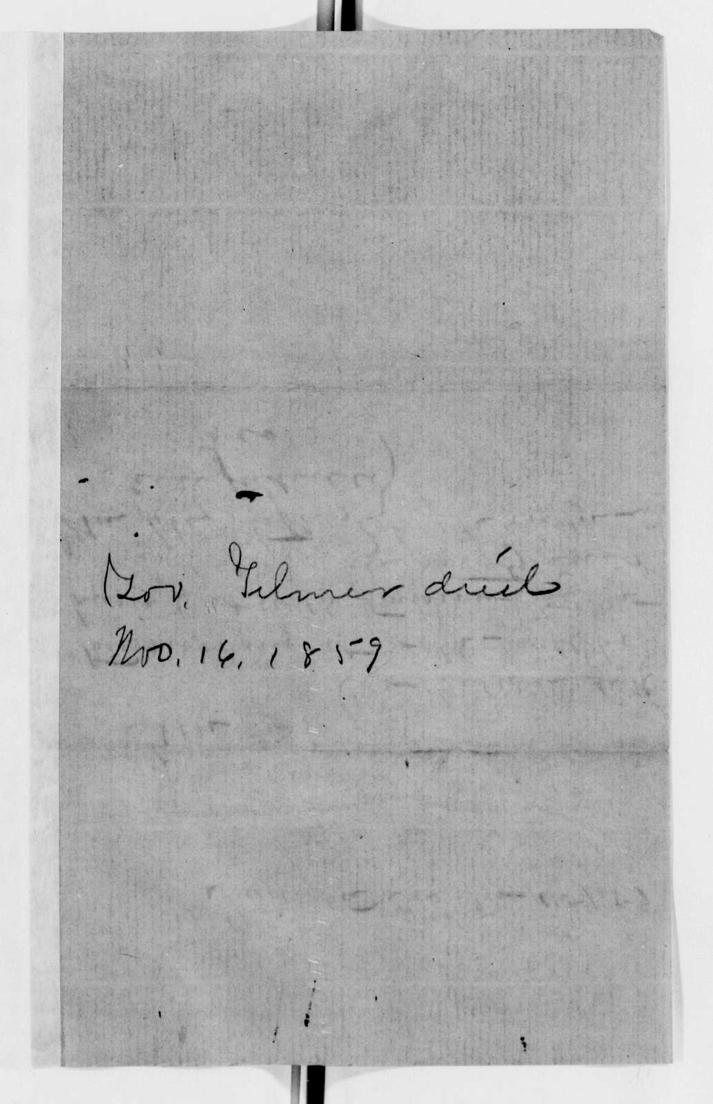 Alexander Hamilton Stephens Papers: General Correspondence, 1784-1886; 1859, Oct. 25-1860, Mar. 4