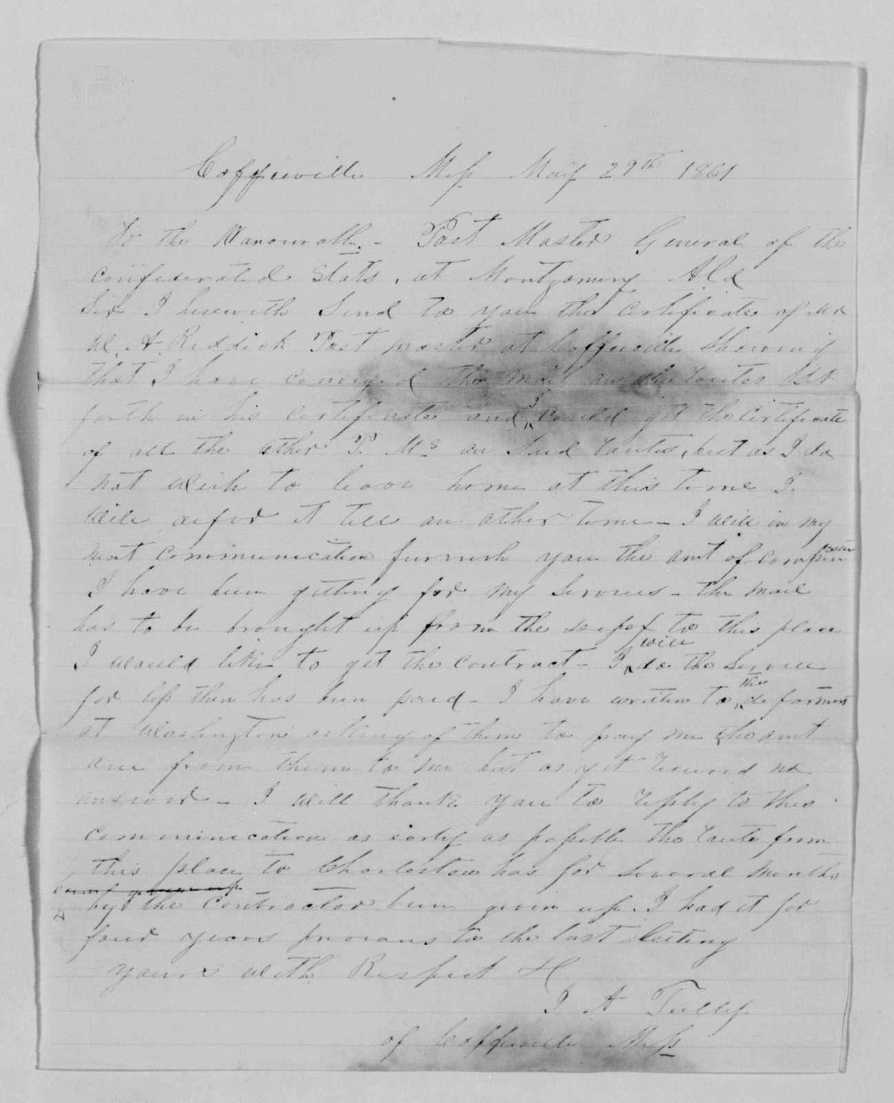 Confederate States of America records: Microfilm Reel 55