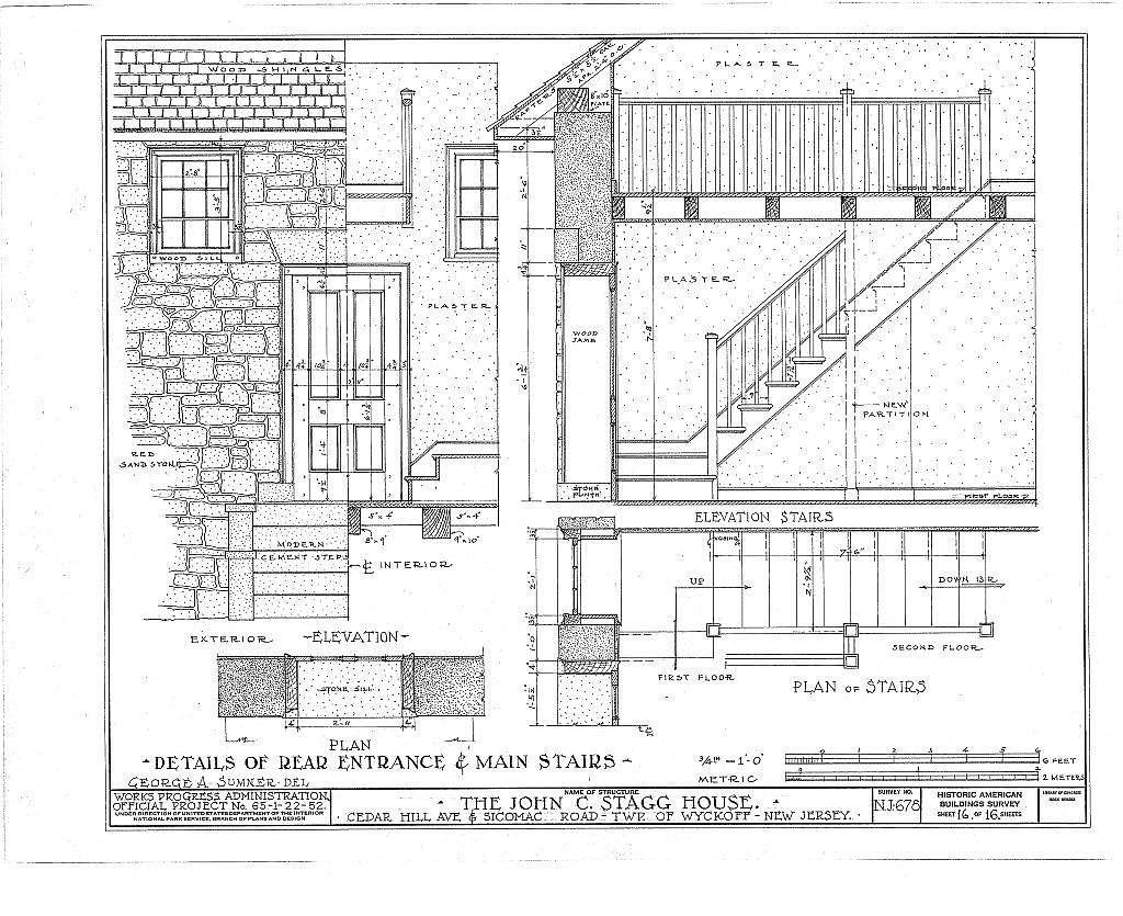 John C. Stagg House, Sicomac Road & Cedar Hill Avenue, Wyckoff, Bergen County, NJ