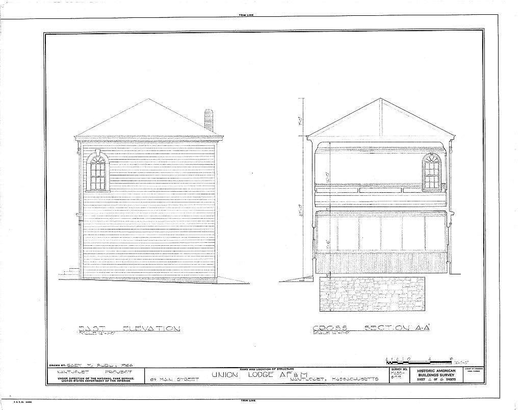 F. & A.M. Union Lodge, 63 Main Street, Nantucket, Nantucket County, MA