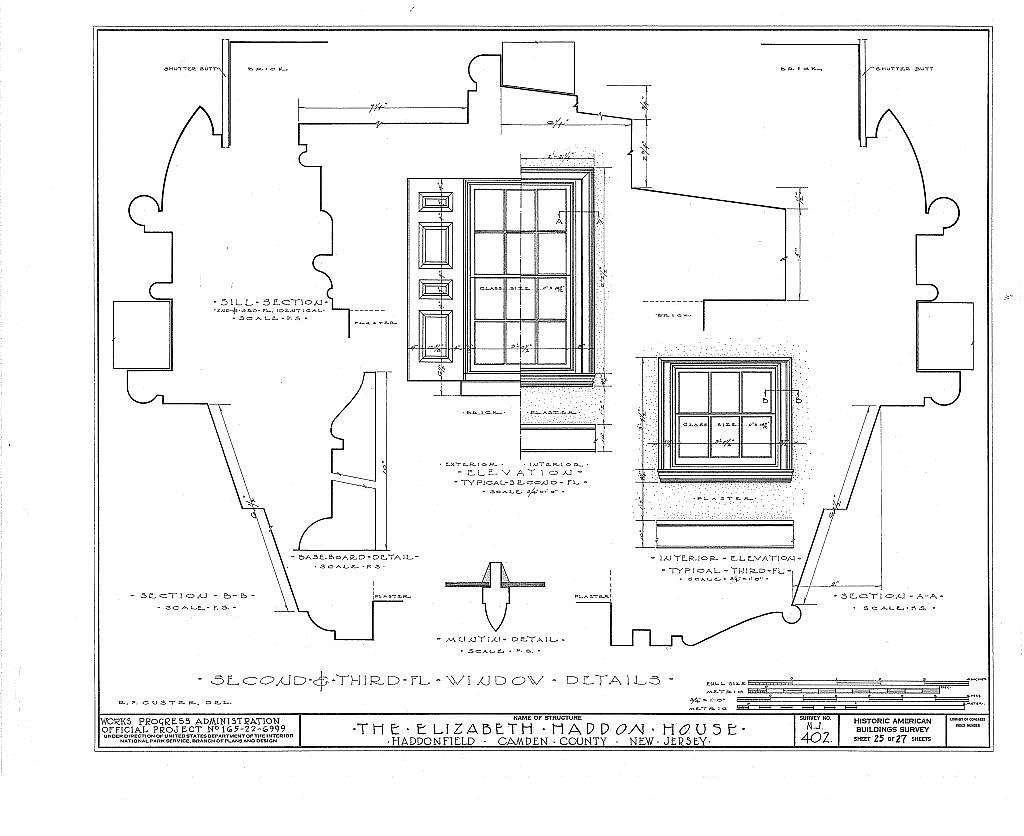 Wood-Haddon House, 201 Wood Lane & Hawthorne Avenue, Haddonfield, Camden County, NJ
