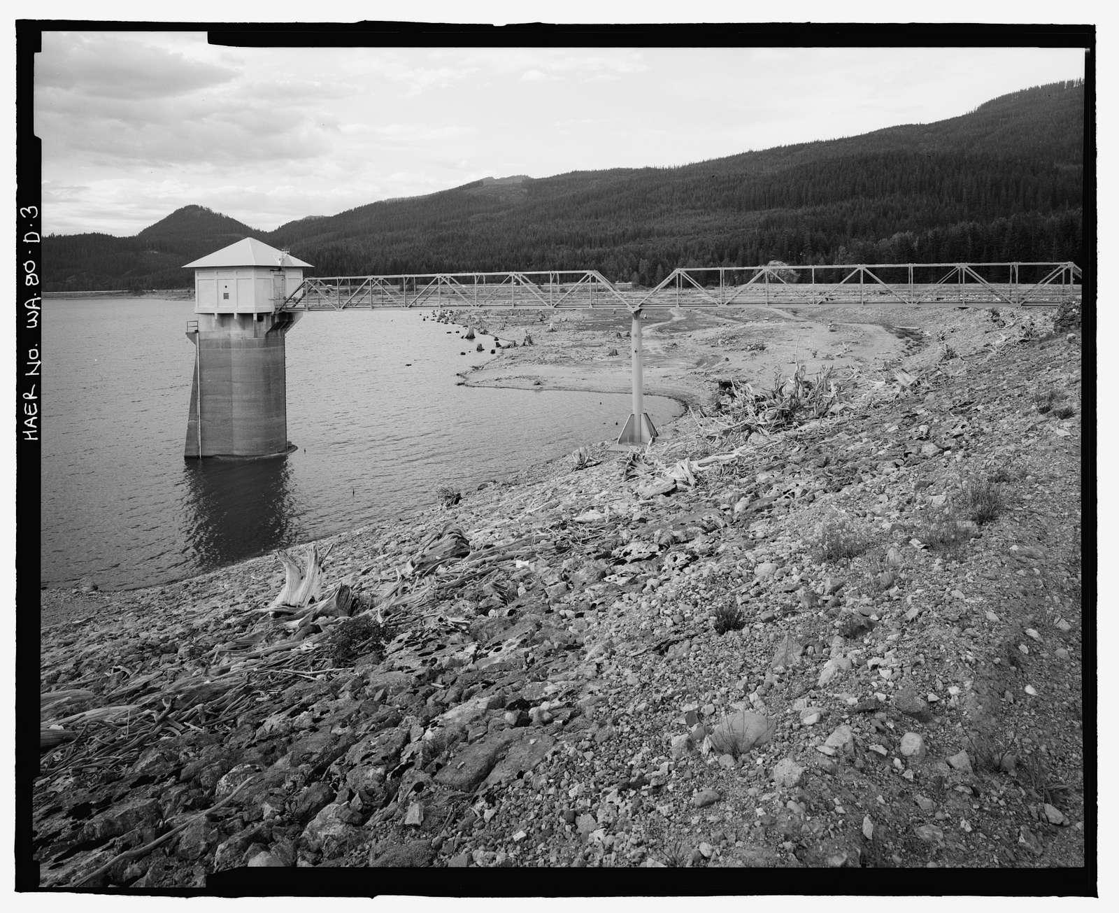 Keechelus Dam, Outlet Tower, Yakim River, 10 miles northwest of Easton, Easton, Kittitas County, WA