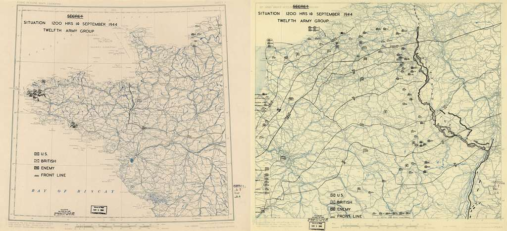 [September 10, 1944], HQ Twelfth Army Group situation map.