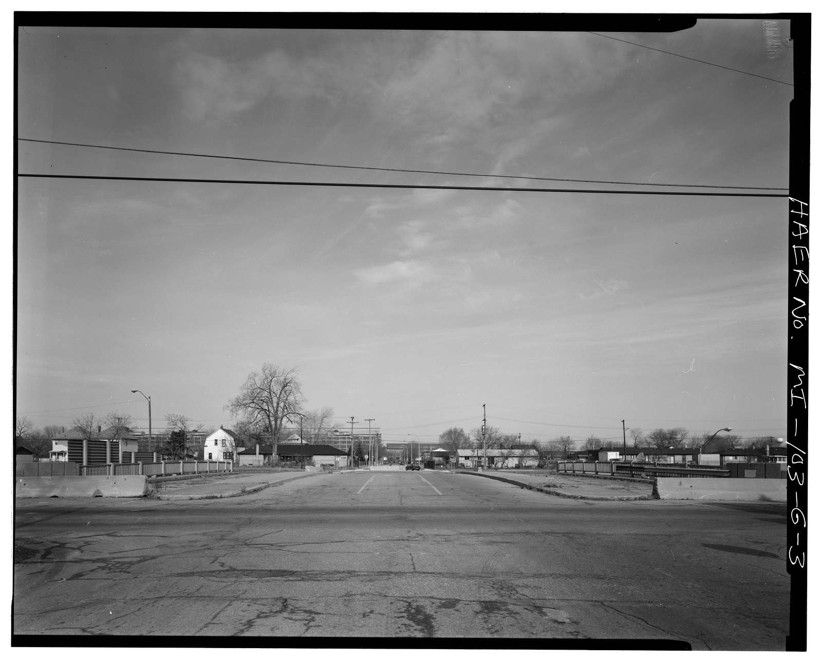 Davison Freeway, Brush Street Avenue Bridge, Spanning Davison Freeway, Highland Park, Wayne County, MI