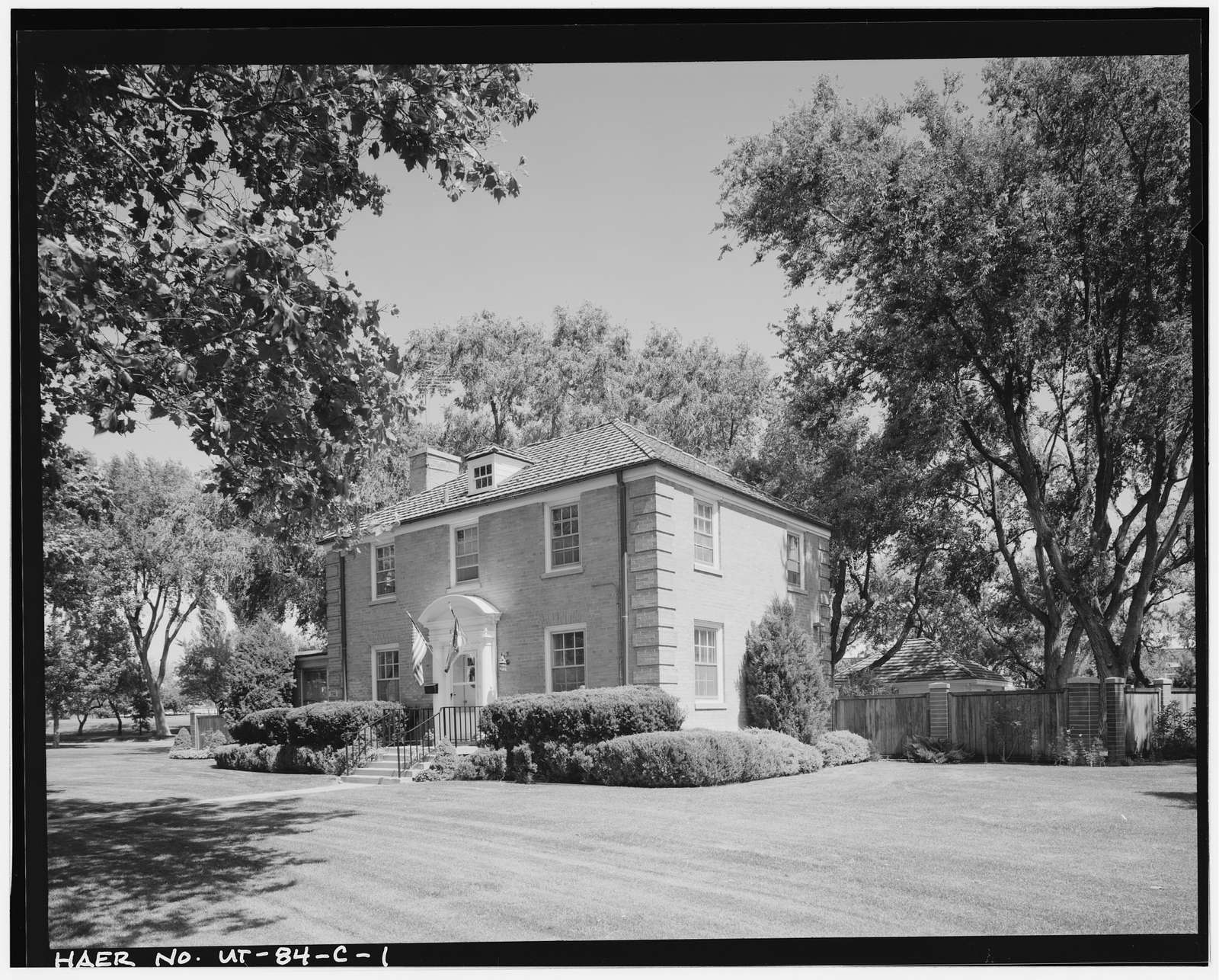 Ogden Arsenal, Family Quarters, East side of Circle Drive, in General's Loop area, Layton, Davis County, UT
