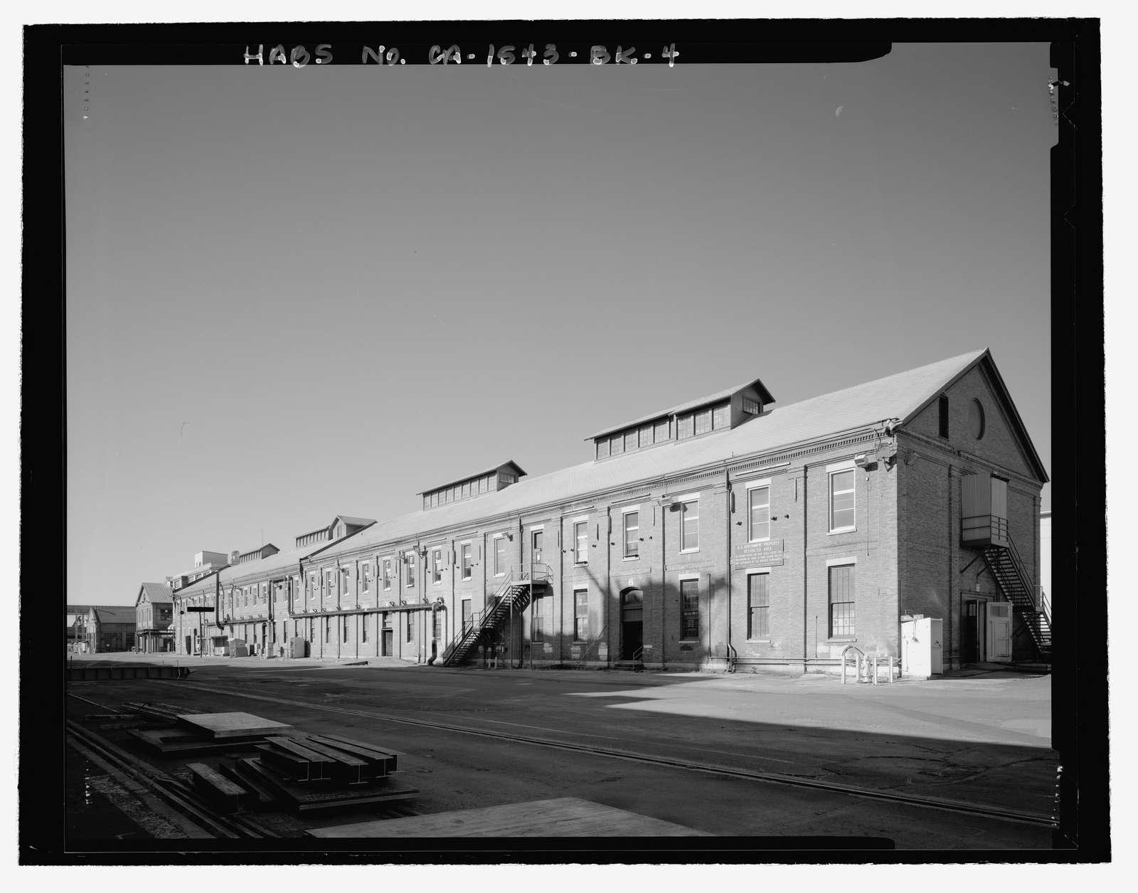 Mare Island Naval Shipyard, Equipment & Recruitment Storehouse, Waterfront Avenue, northwest corner of Waterfront Avenue & Fifth Street, Vallejo, Solano County, CA