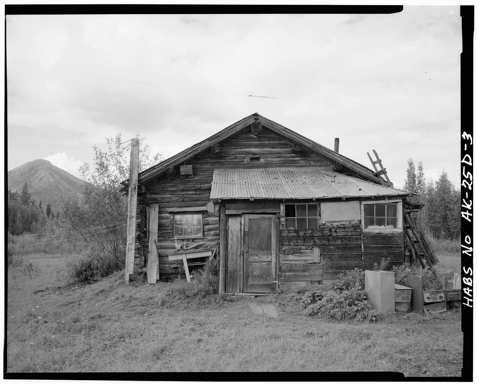 Dow Ulen Cabin & Wind Generator, Koyukuk River at Wiseman Creek, Bettles Vicinity, Wiseman, Yukon-Koyukuk Census Area, AK