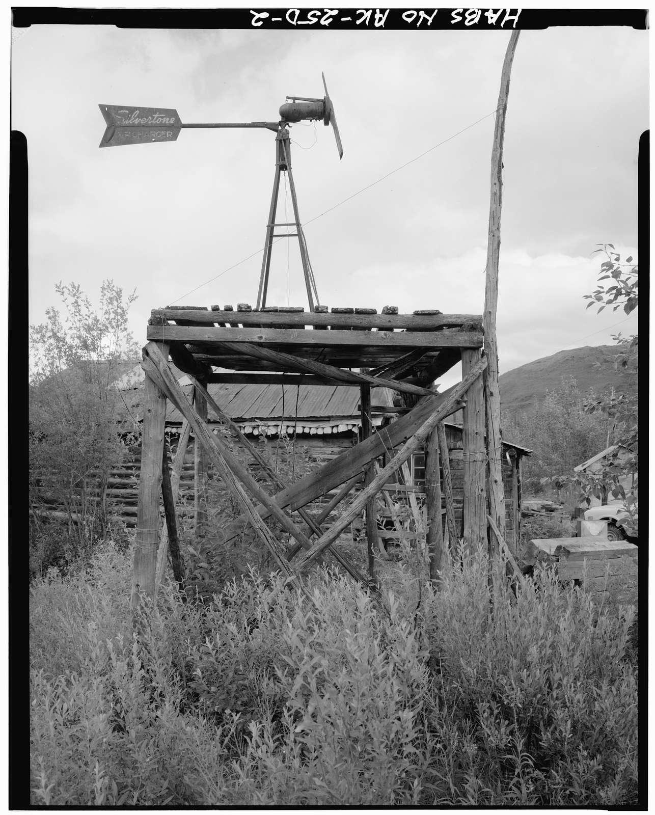 Dow Ulen Cabin & Wind Generator, Koyukuk River at Wiseman Creek, Bettles Vicinity, Wiseman, Yukon-Koyukuk Census Area, AK