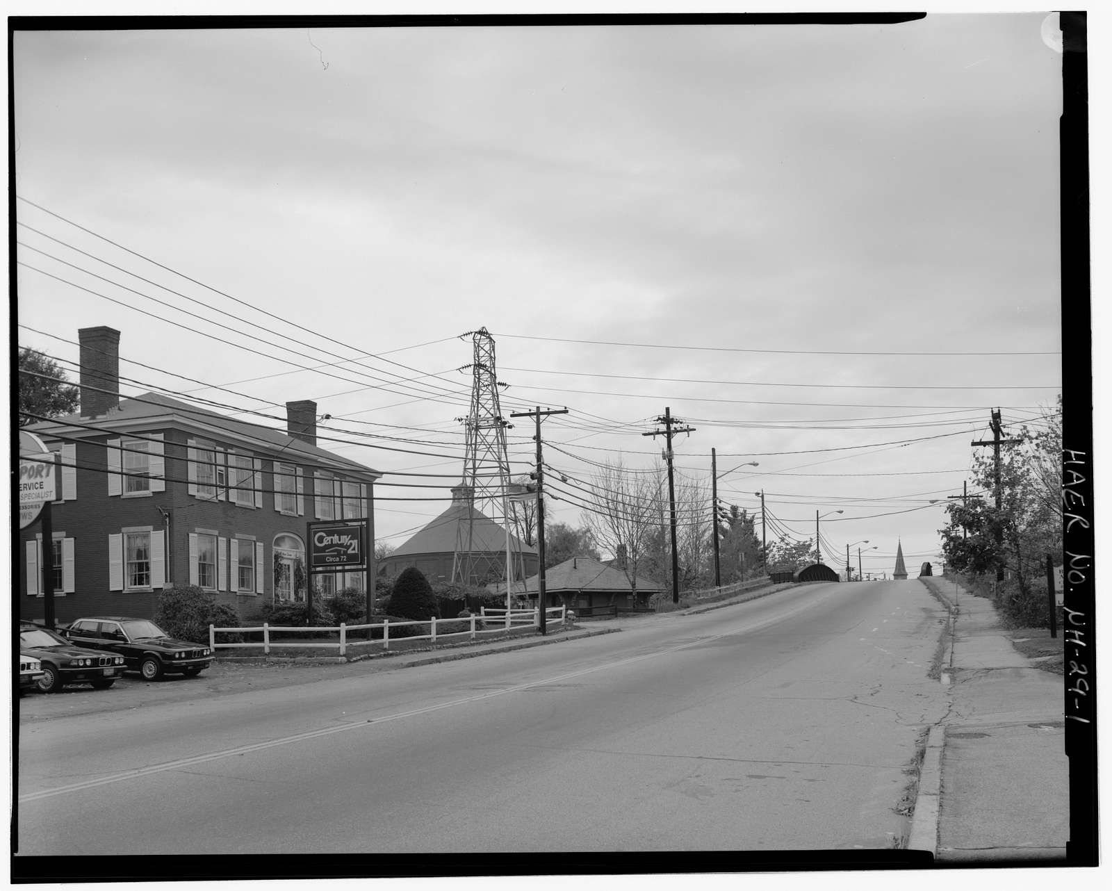 Water Street Bridge, Spanning Boston & Maine Railroad tracks at Water Street (U.S. Route 3), Concord, Merrimack County, NH