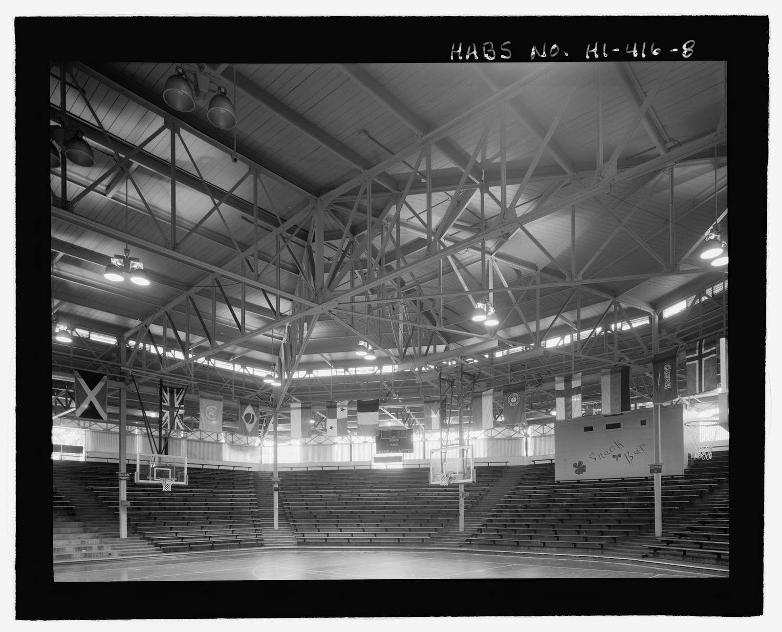 U.S. Naval Base, Pearl Harbor, Bloch Recreation Center & Arena, Between Center Drive & North Road near Nimitz Gate, Pearl City, Honolulu County, HI