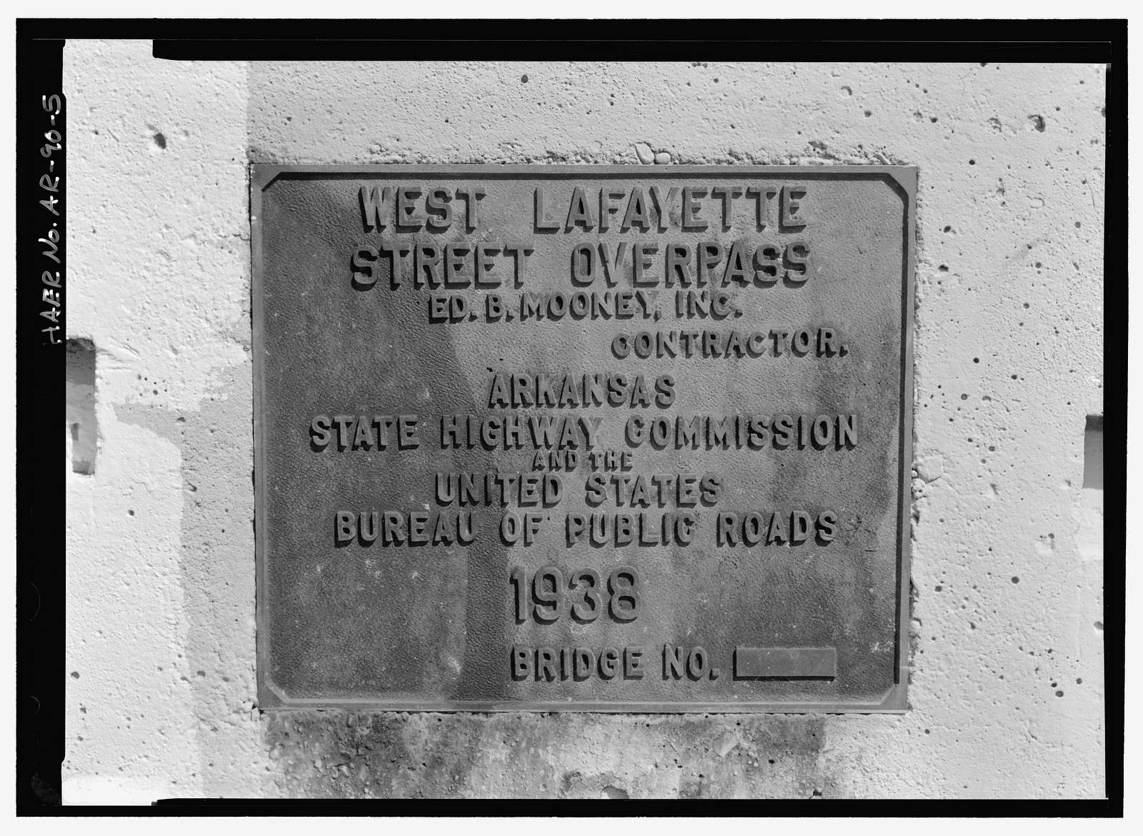 Lafayette Street Overpass, Spanning former St. Louis & San Francisco Railway at Lafayette Street, Fayetteville, Washington County, AR